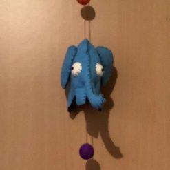 Hand made hanging decoration - Trio of Mini Elephants