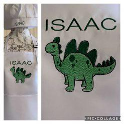 Personalised Children's Apron & Hat Dinosaur