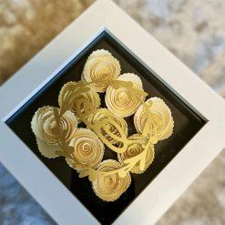 Handmade Roses in Frame
