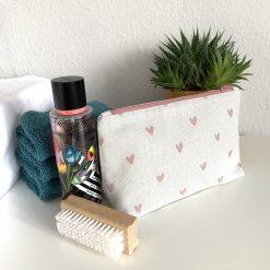 Small Wash Bag - Pink Hearts