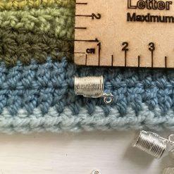 9 x needle and thread Tibetan silver charms 1.5cm