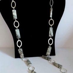 A beautiful semi precious gemstone bead necklace