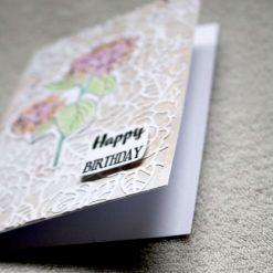Happy Birthday Flower Greetings Card 1