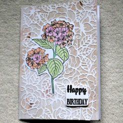 Happy Birthday Flower Greetings Card 3