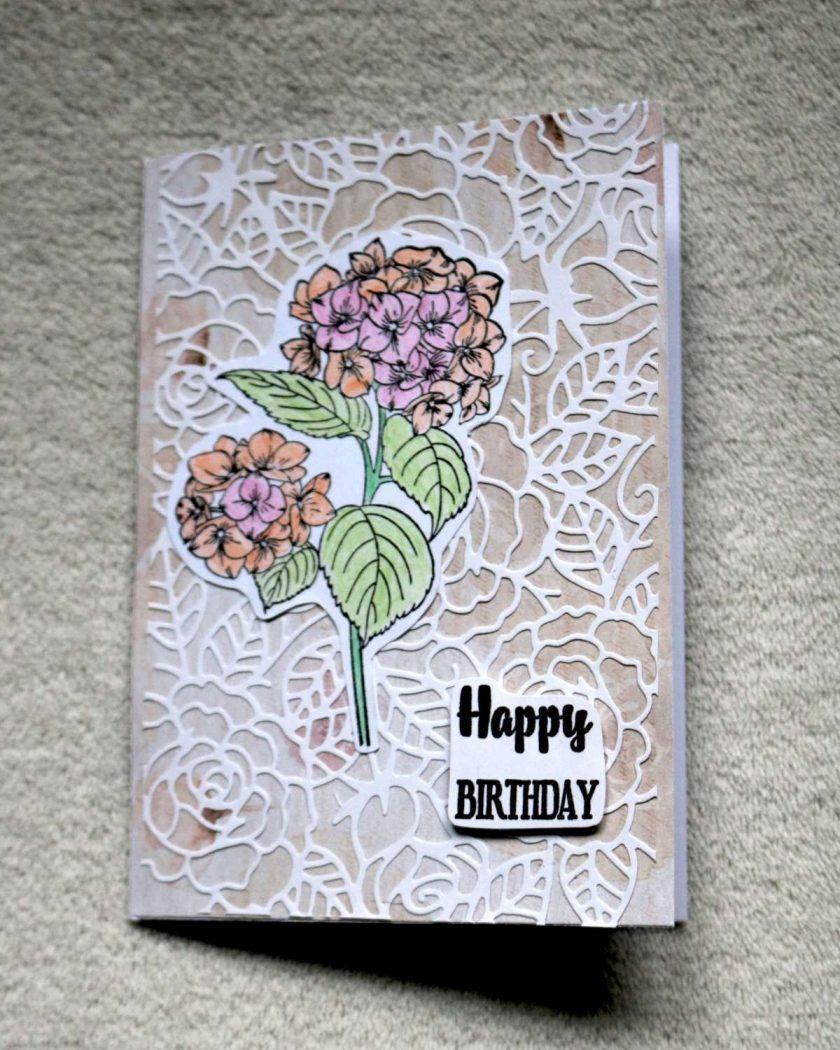 Happy Birthday Flower Greetings Card