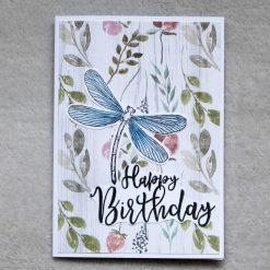 Dragonfly Happy Birthday Greetings Card 1