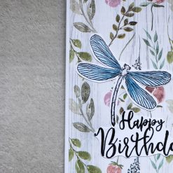 Dragonfly Happy Birthday Greetings Card 2