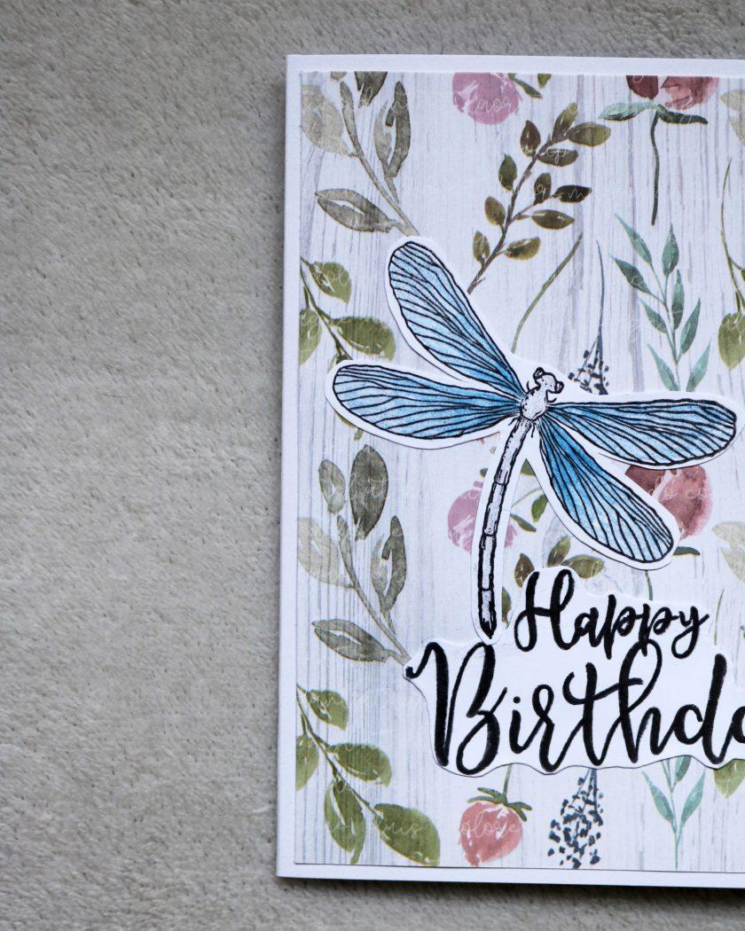Dragonfly Happy Birthday Greetings Card