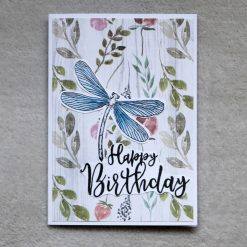 Dragonfly Happy Birthday Greetings Card