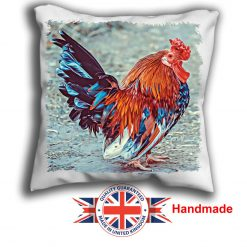 Cockerel Cushion Cover, Cockerel Cushion, 6 sizes, Handmade