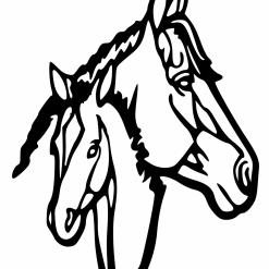 Horse Head 3 Svg   Cricut   Silhouette   SVG ESP DXF JPEG PNG PDF