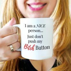 Coffee Mug, Funny Quote Mugs, Mug With Saying, 'I Am A Nice Person', Gift Mug,