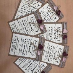 Handmade Personalised Wedding Invitations