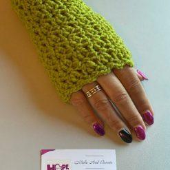 Handmade crocheted lacey fingerless gloves. ????