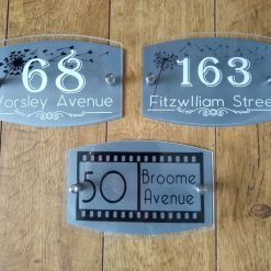 Personalised door plaque, house number, street sign, acrylic, housewarming