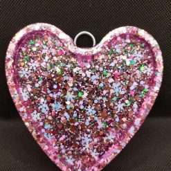 Glittery heart pick your initial