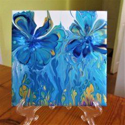 """BLUE FLOWERS"" (A)  -  CERAMIC TILE"