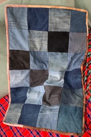 Denim throw / baby mat / dog bed
