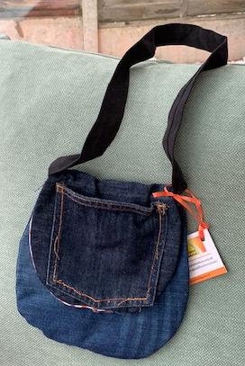 Child's denim shoulder bag 1