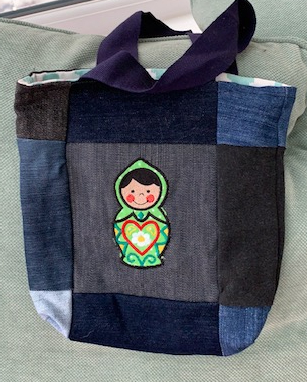 Child's applique denim bag 1 1