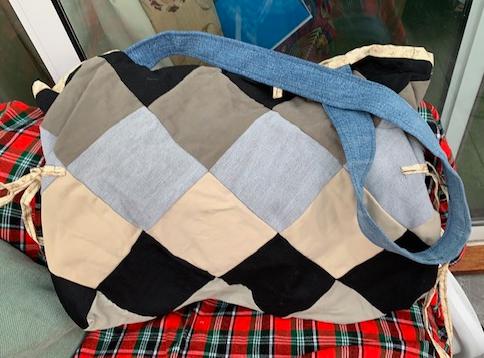 Large denim beach / shoulder bag 1