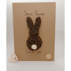Knitted bunny card