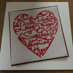 Embroidered Heart Card