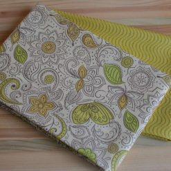 2 x FQ Set Mellow Yellow Floral & Mustard Wave / Lewes & Irene 100% Cotton Fabric