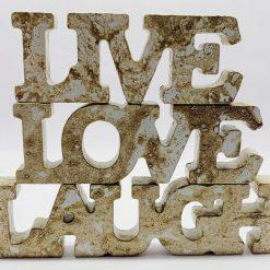 Live, Love, Laugh Concrete Ornament