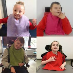 Dignity bibs for children and adults - age appropriate colours - special educational needs - pmld - made to order