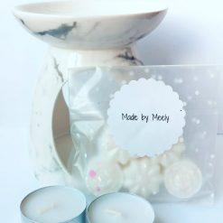 White Burner & Wax Melt Starter Kit FREE SHIPPING