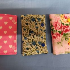 Handmade needle case/needles and pins book/soft needle case/sewing storage/sewing gifts/flowers or hearts/with free UK postage.