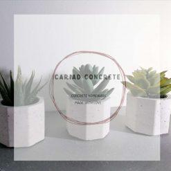 Concrete 3 x Plant / Tealight Holders