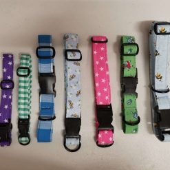 These Handmade dog collars are made in sizes Small, Medium, Large and EX Large with lots of lovely designs. with free UK postage.