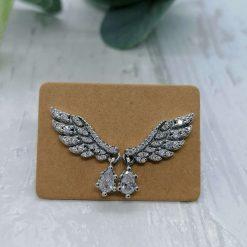 Angel Wings Stud Earrings.