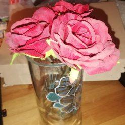 Hand engraved Vodka bottle Flower Vase and coloured Vase 5