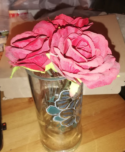 Hand engraved Vodka bottle Flower Vase and coloured Vase 2