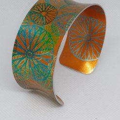 Anodised aluminium bangle