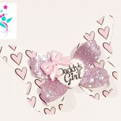 Daddy's Girl Butterfly Hairbow