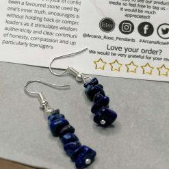 Lapis Lazuli Bar Earrings