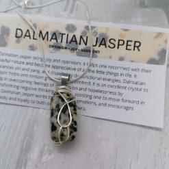 Dalmatian Jasper Pendant.