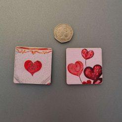 Fridge magnet Decoupage decorative wooden square