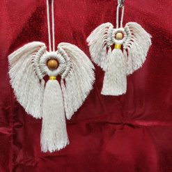 Macramé Angel wall hanging cotton cord in Small and Large with Free UK postage.