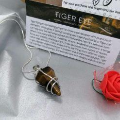 Tiger Eye Pointed Pendant