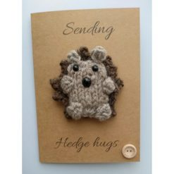 Knitted hedgehog card