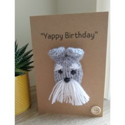 Knitted dog card