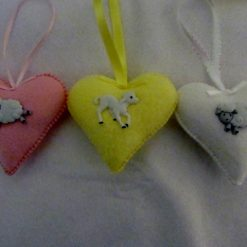 Easter Lambs Hearts
