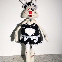 Fanny Bunny,  PricklesandSpike, OOAK, handmade, Doll, Easter,