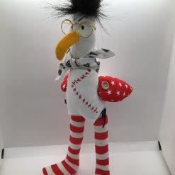 Rodney Seagull,  PricklesandSpike, OOAK, handmade, Doll, Fun, Gift