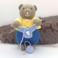 """Cat knitting, not a toy, called """"knitting for my grand kittens"""" hand knitted"""